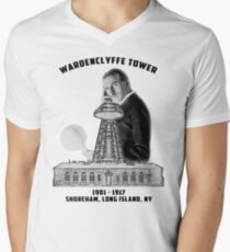 Tesla Tower Men's V-Neck T-Shirt
