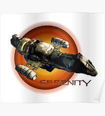 Firefly - Serenity Spaceship Poster