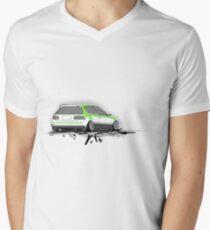 Honda Civic  Mens V-Neck T-Shirt