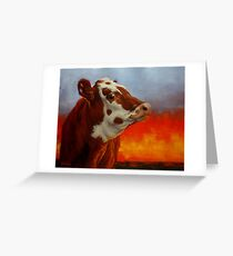 Eye Of The Firestorm Greeting Card