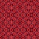 Red flowers floral arabesque pattern by clipsocallipso
