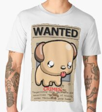 WANTED puppy poster Men's Premium T-Shirt