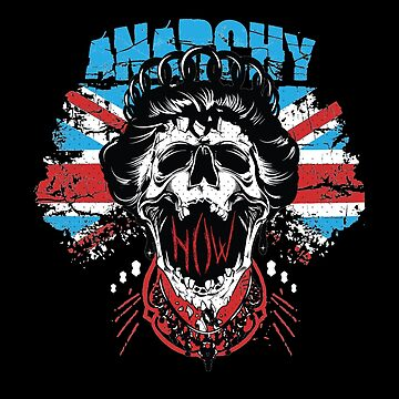 Union Jack Flag Anarchy In The UK Queen Skull by thespottydogg