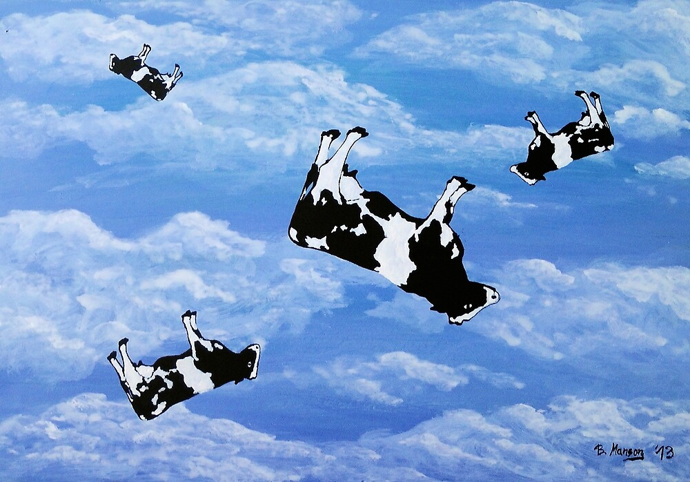 Falling Cows by Bela-Manson