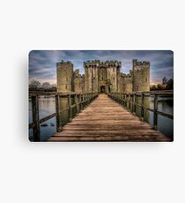 OVER THE MOAT TO BODIAM CASTLE Canvas Print