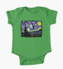 The Tardis in the Starry Night One Piece - Short Sleeve