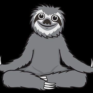Sloth Yoga Lotus by plushism