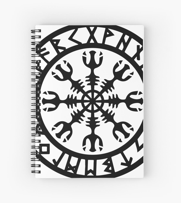 Cuadernos De Espiral El Timón Del Temor Símbolo Vikingo Para La