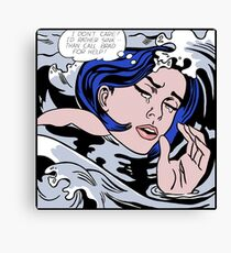 Roy Lichtenstein Drowning Girl High Quality Canvas Print