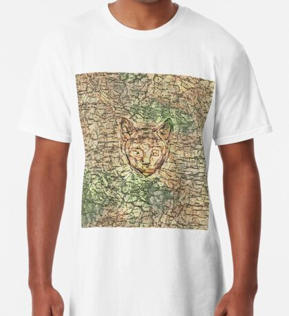 SPY cat HIDIN IN teh map Long T-Shirt