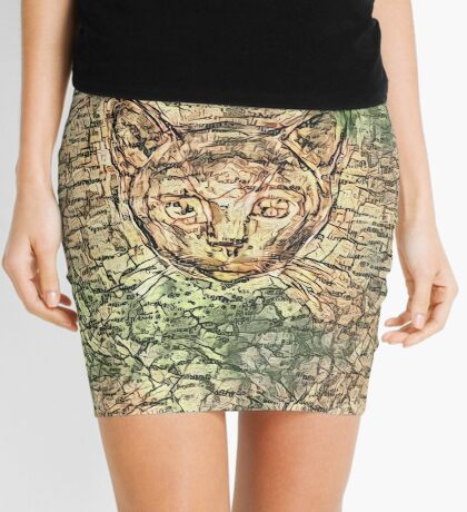 SPY cat HIDIN IN teh map Mini Skirt