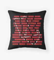 British GP Silverstone winners Throw Pillow