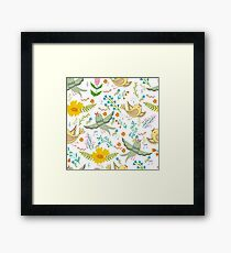 Spring birds and flowers Framed Print