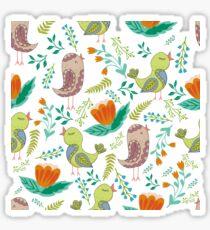 Birds and flowers Sticker