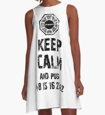 KEEP CALM AND PUSH 4 8 15 16 23 42 - 0218 A-Line Dress