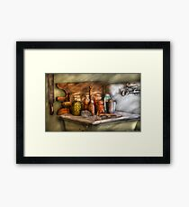 The process of Canning Framed Print