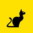 Angry Animals: Cat (on yellow background) by VrijFormaat