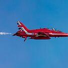 Red Arrow Hawk white smoke on by Gary Eason