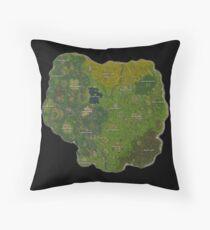 Map Fortnite Throw Pillow