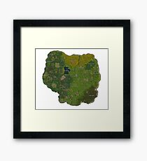 Map Fortnite Framed Print
