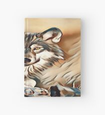 The Grey Timber Wolf Hardcover Journal