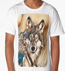 The Grey Timber Wolf Long T-Shirt