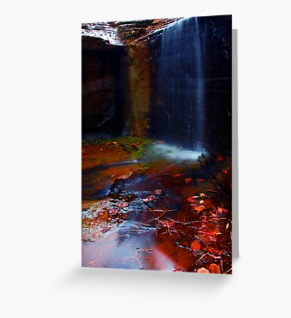 Kalamina Gorge Waterfall Greeting Card