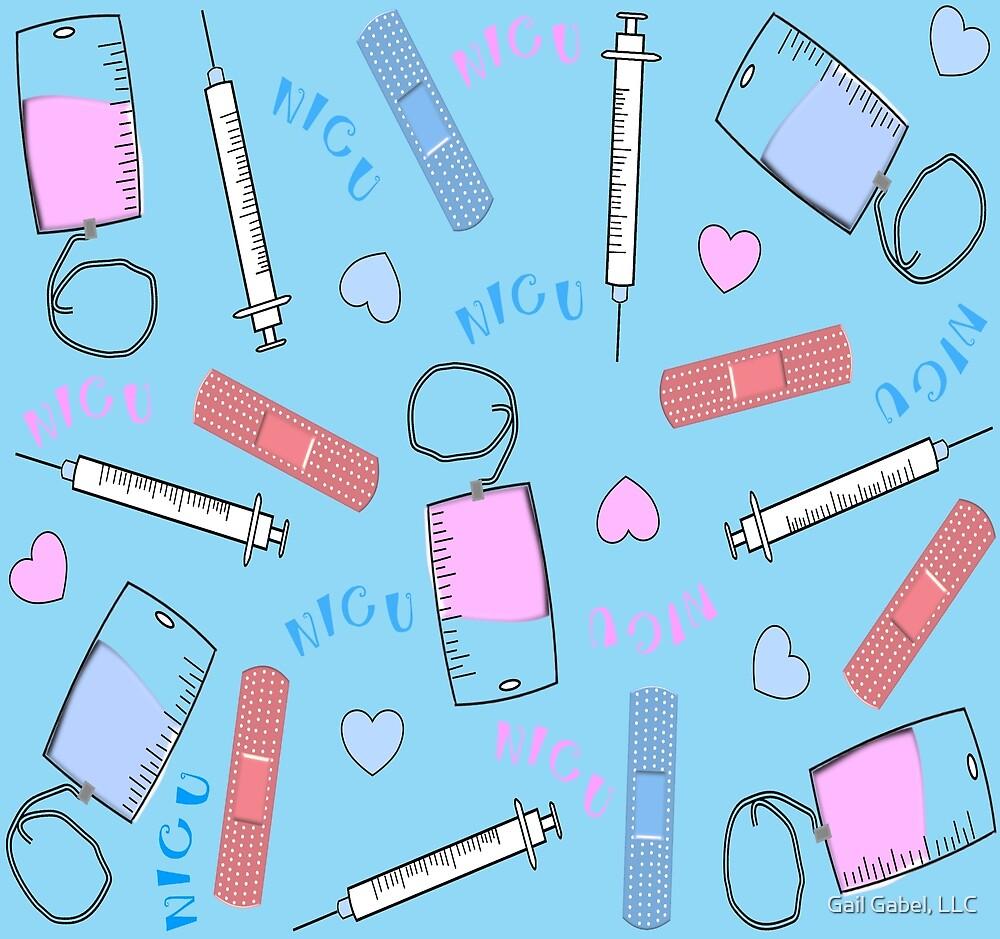 NICU Nurse Blue by Gail Gabel, LLC