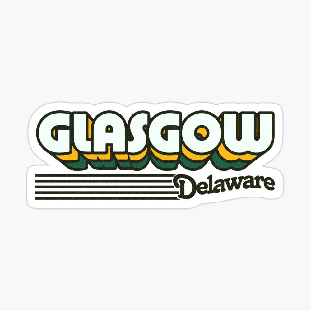 Glasgow, Delaware | Retro Stripes Sticker