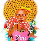 «Chica negra afro camiseta» de lucianfvaizer
