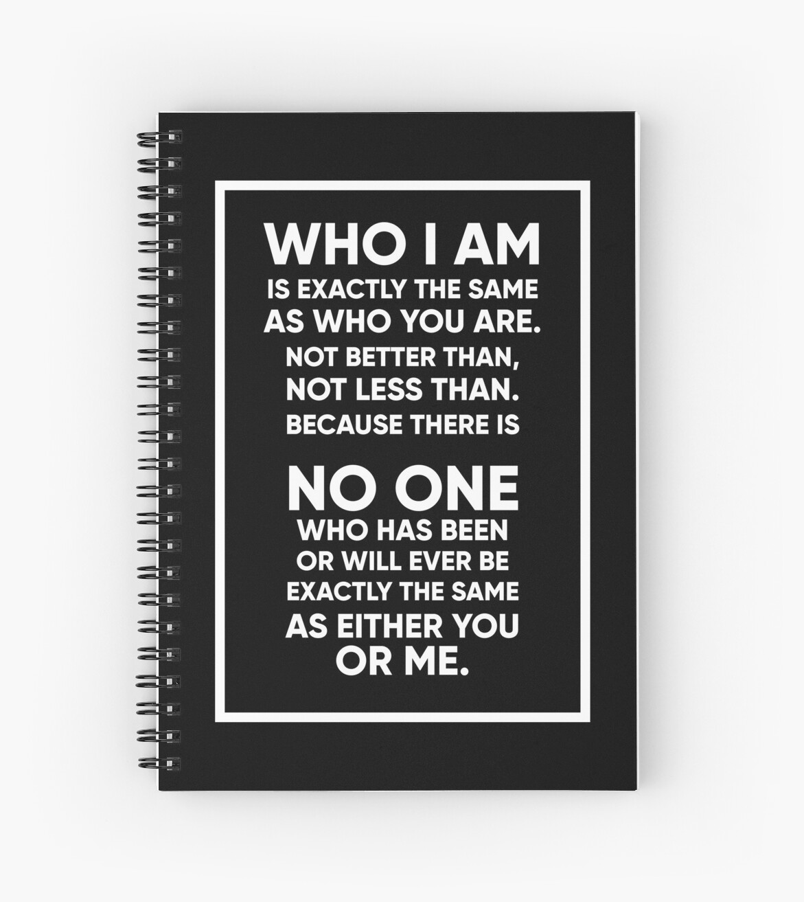 Sense 8 Quote Who I Am Spiral Notebooks By Fuseleven Redbubble