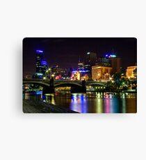 Melbourne at night - bridge Canvas Print