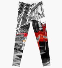 Boston Fire Truck  Leggings