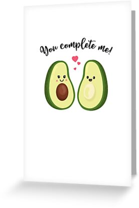 You complete me T Shirt- Avocado Couple-Valentines Day Gift by Cheesybee