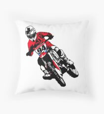 Moto Cross Racing Throw Pillow