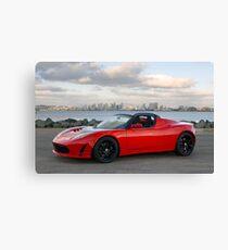 Tesla Roadster (3) Canvas Print