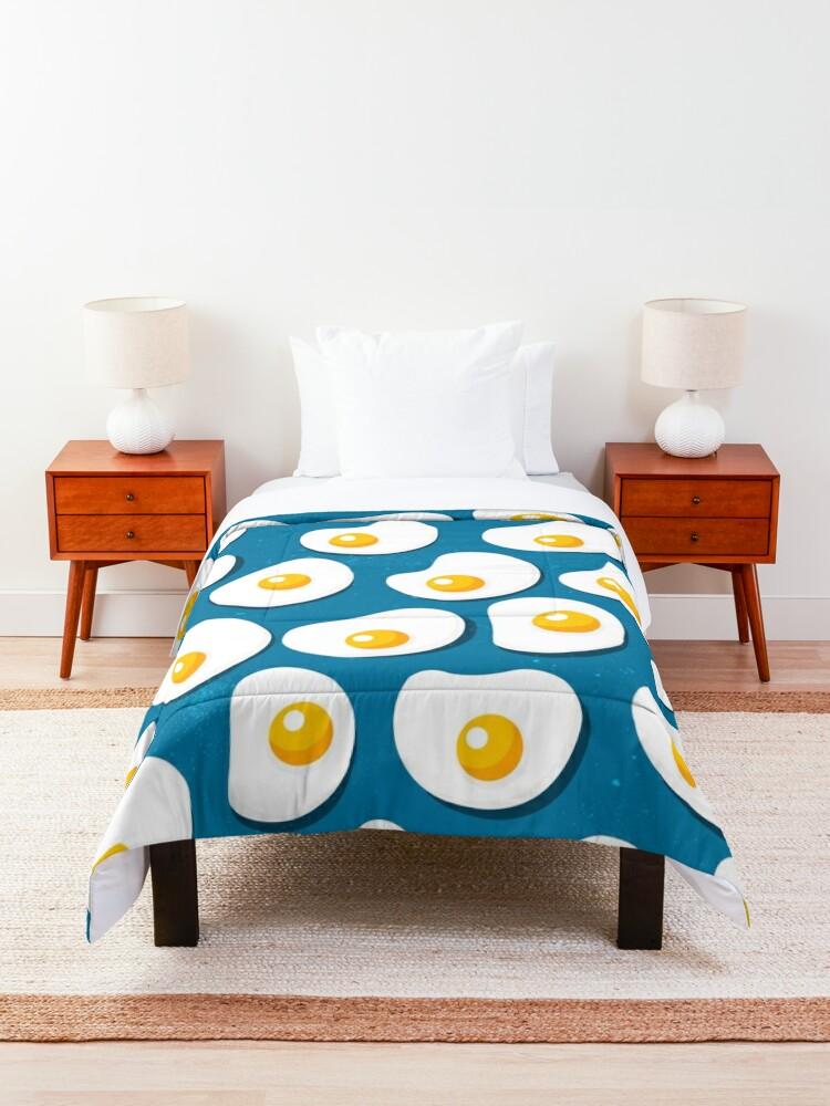 Alternate view of Food pattern- fried eggs Comforter