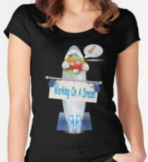 Working On A Dream  Women's Fitted Scoop T-Shirt