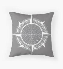 The Tarik Compass Throw Pillow