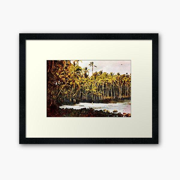Kaimū Beach Reworked Framed Art Print