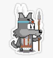 Pixel Spirit Animal: Wolf Sticker