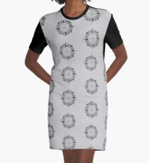 The Tarik Compass Graphic T-Shirt Dress