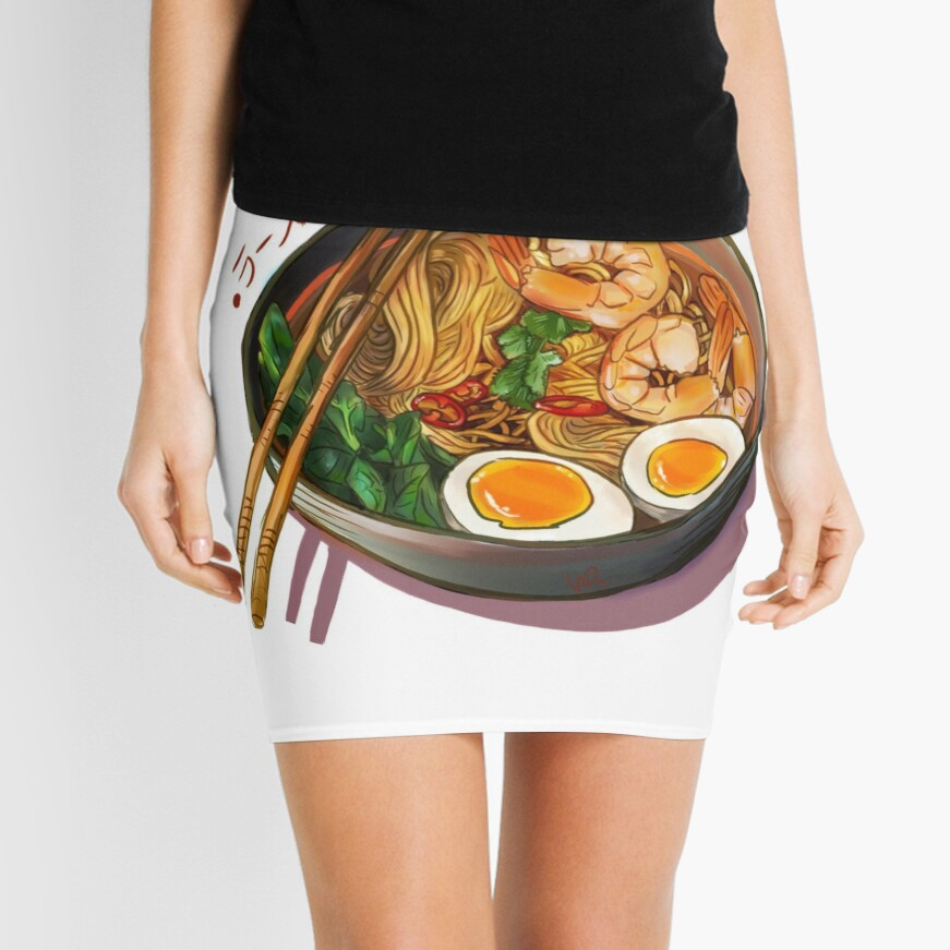 Japanses Ramen Noodles Bowl Mini Skirt