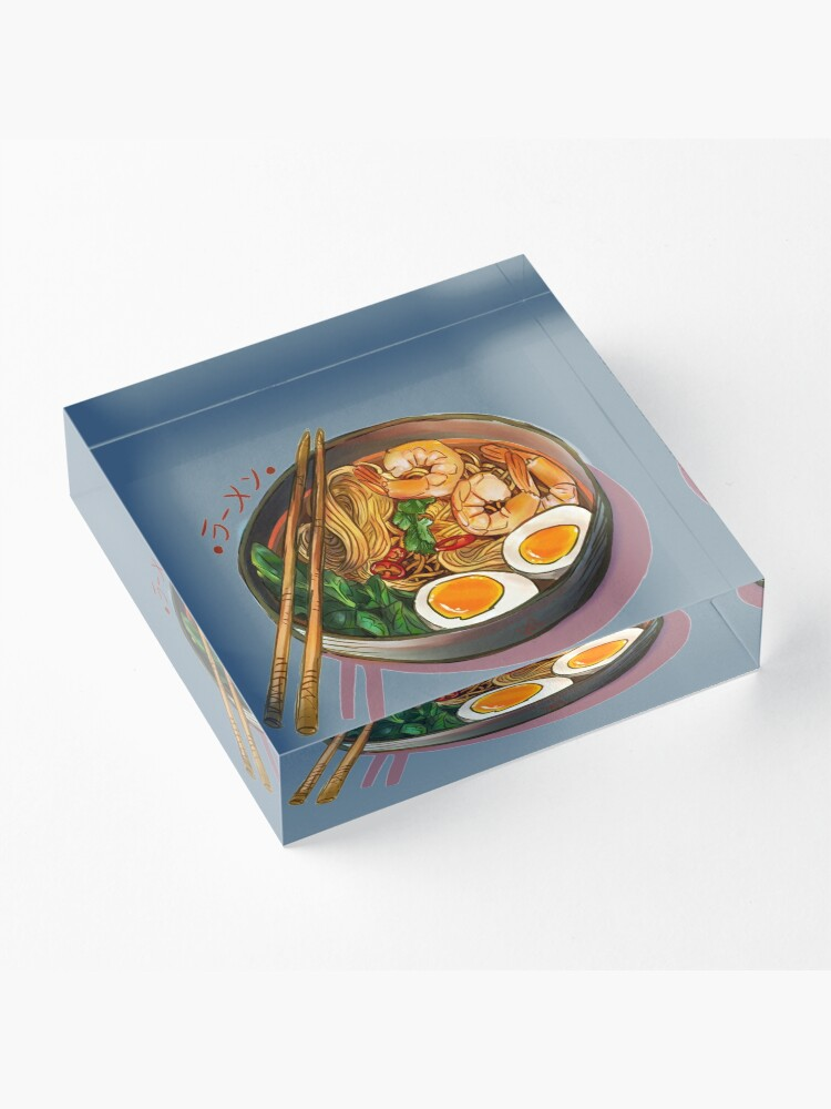Alternate view of Japanses Ramen Noodles Bowl Acrylic Block
