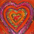 Red Heart | Abstract Painting by Maria Meester