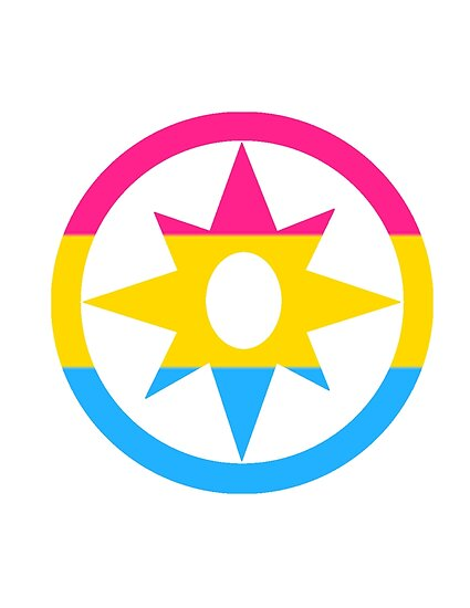 Star Sapphire Pansexual Flag Posters By Forrestfire Redbubble