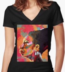 Keeper of The Flame - Nina Simone Women's Fitted V-Neck T-Shirt