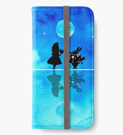 Alicia en el país de las maravillas - Magical Watercolor Night Funda tarjetero para iPhone