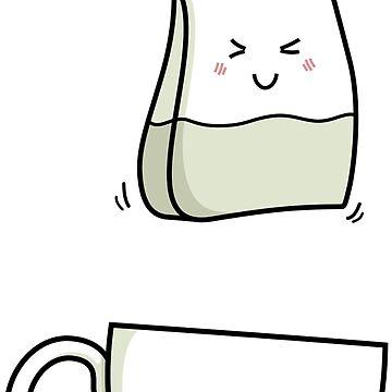 Cute Kawaii Tea Love (version 1) by freeves