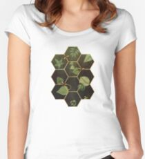 Bees in Space Women's Fitted Scoop T-Shirt